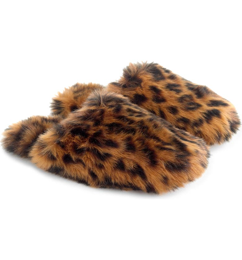J.CREW Faux Fur Slipper, Main, color, 200