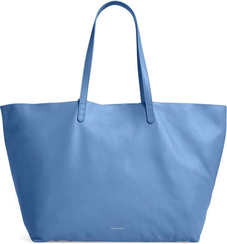 MANSUR GAVRIEL Oversize Lambskin Leather Tote, Main, color, LAGO