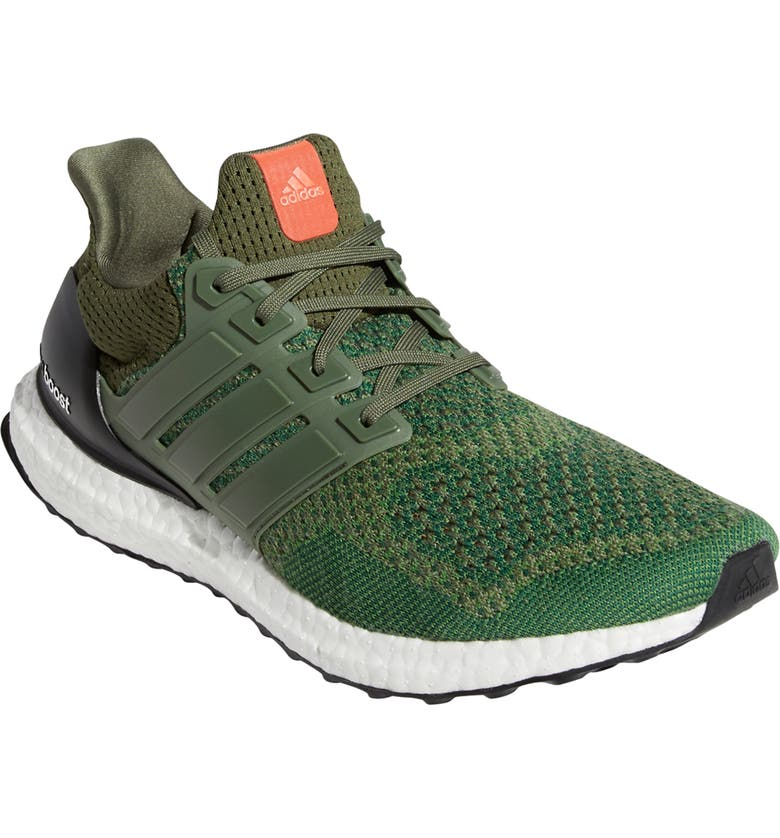 ADIDAS Men's UltraBoost LTD Wool Blend Running Shoe, Main, color, BASE GREEN/ BASE GREEN/ BLACK