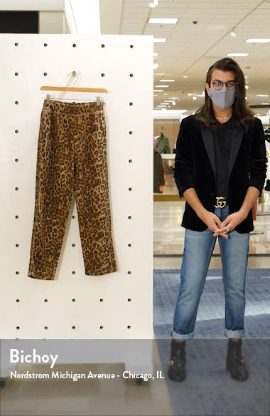 Clarence Leopard Print Track Pants, sales video thumbnail