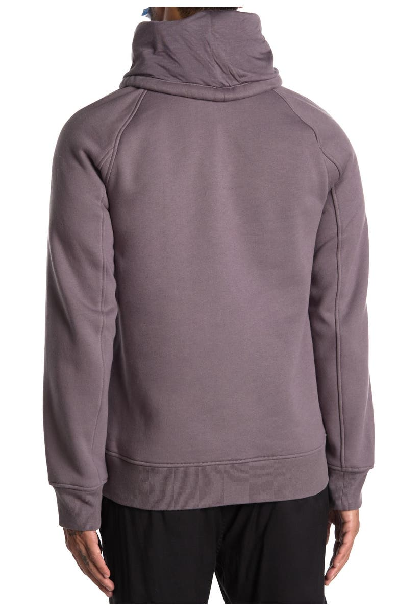 HELMUT LANG Brushed French Terry Cowl Neck Hoodie, Main, color, RABBIT