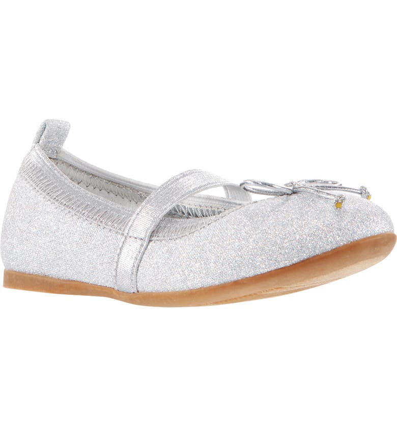 NINA Esther Ballet Flat, Main, color, SILVER EMBOSSED METALLIC