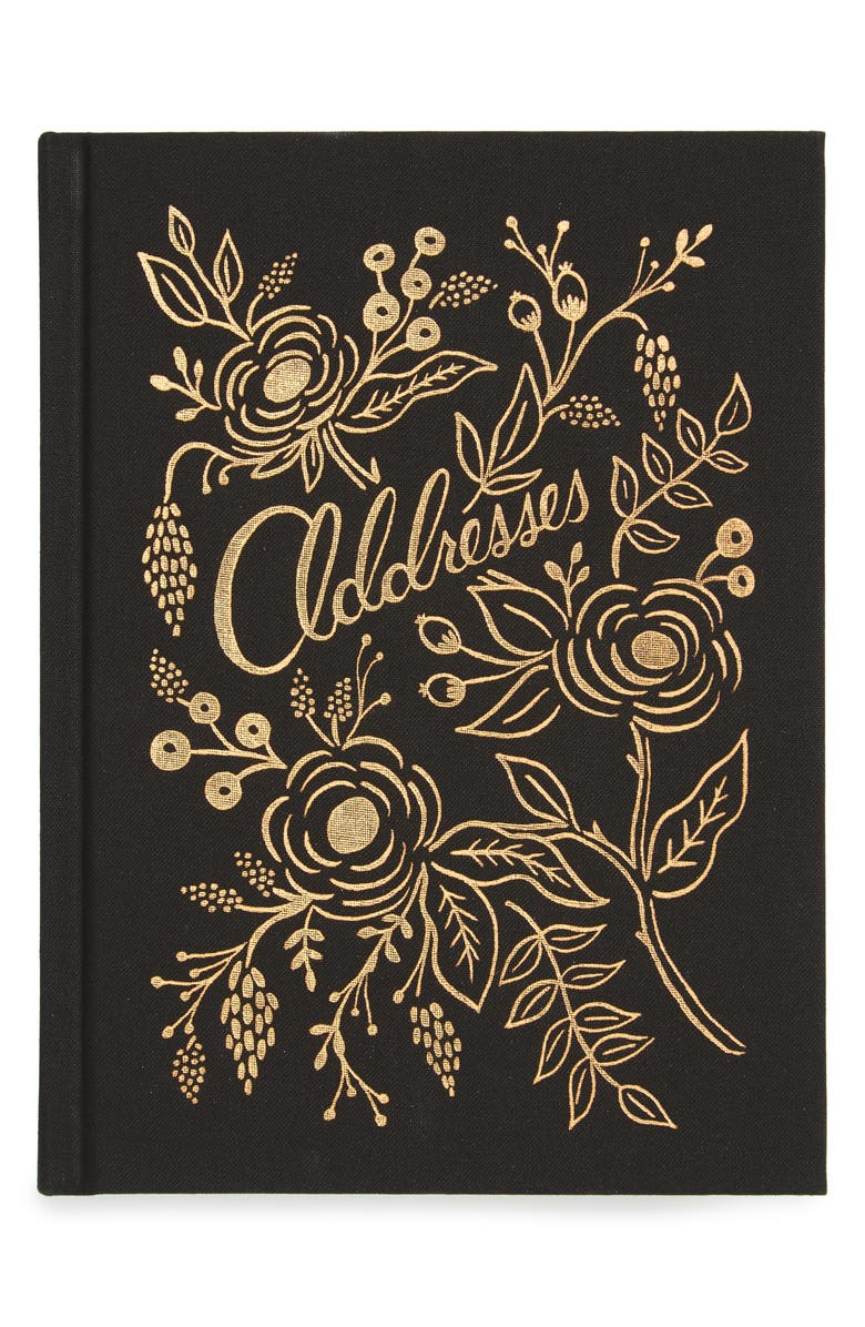 RIFLE PAPER CO. Raven Address Book, Main, color, 001