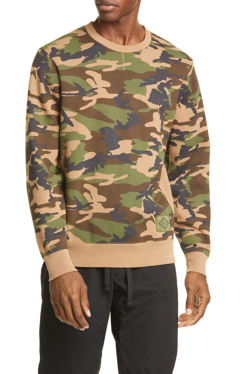 OVADIA & Sons Dune Camo Crewneck Sweatshirt, Main, color, 600