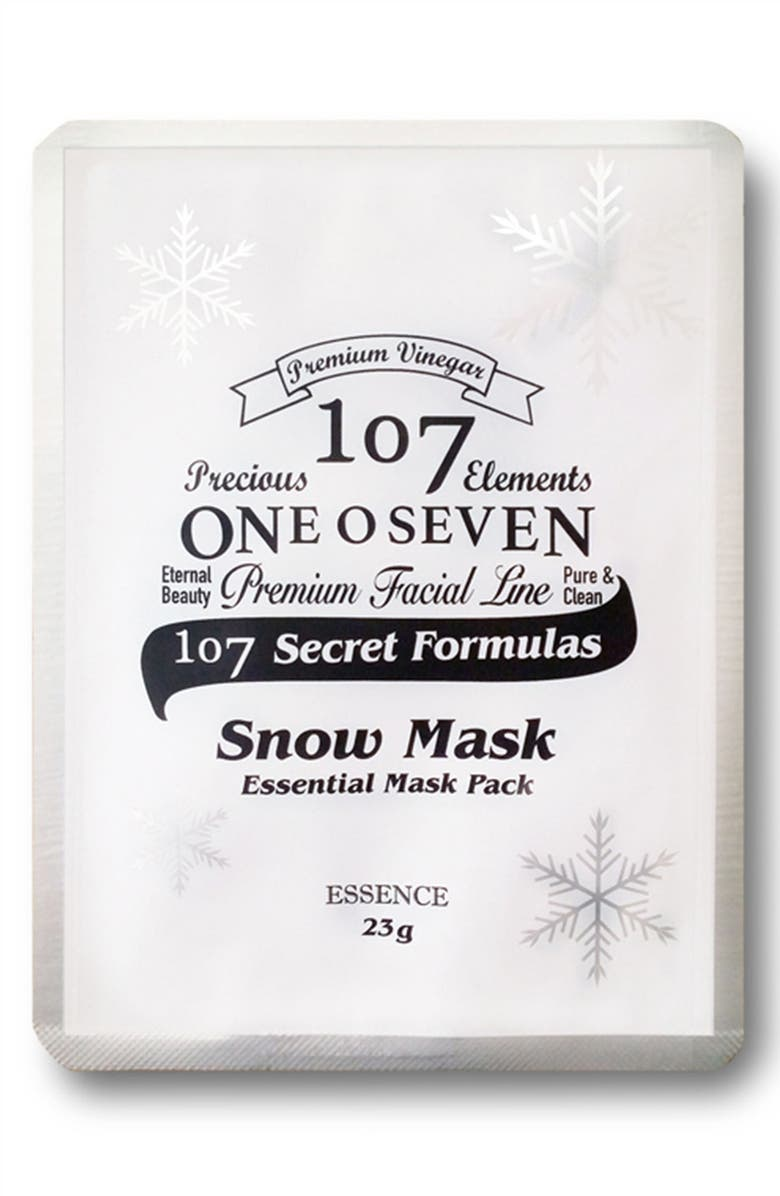 107 ONEOSEVEN Set of 8 Snow Sheet Masks, Main, color, 000