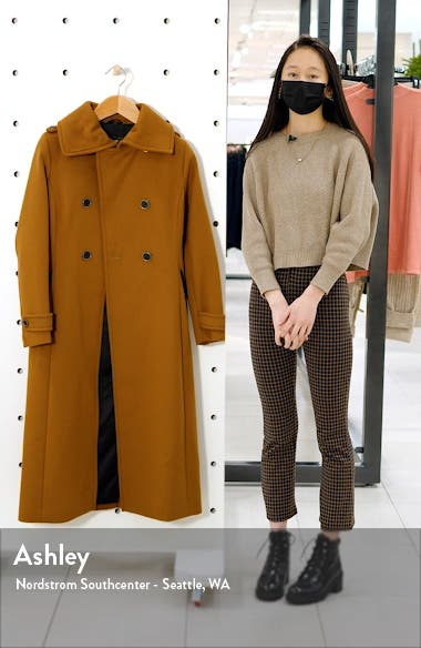 Elodie Double Breasted Military Maxi Coat, sales video thumbnail