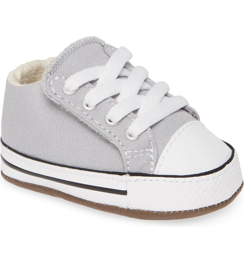 CONVERSE Chuck Taylor<sup>®</sup> All Star<sup>®</sup> Cribster Canvas Crib Shoe, Main, color, WOLF GREY/ IVORY/ WHITE
