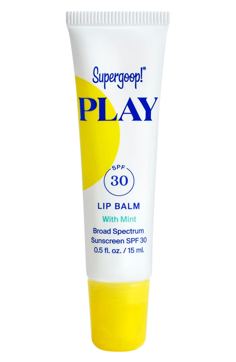 SUPERGOOP!<SUP>®</SUP> Supergoop! Play Mint Lip Balm SPF 30 Sunscreen, Main, color, No Color