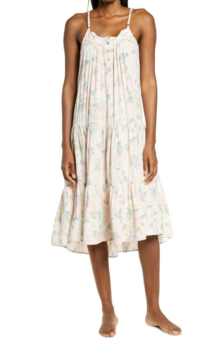 PAPINELLE Gess Floral Tiered Nightgown, Main, color, FLORAL