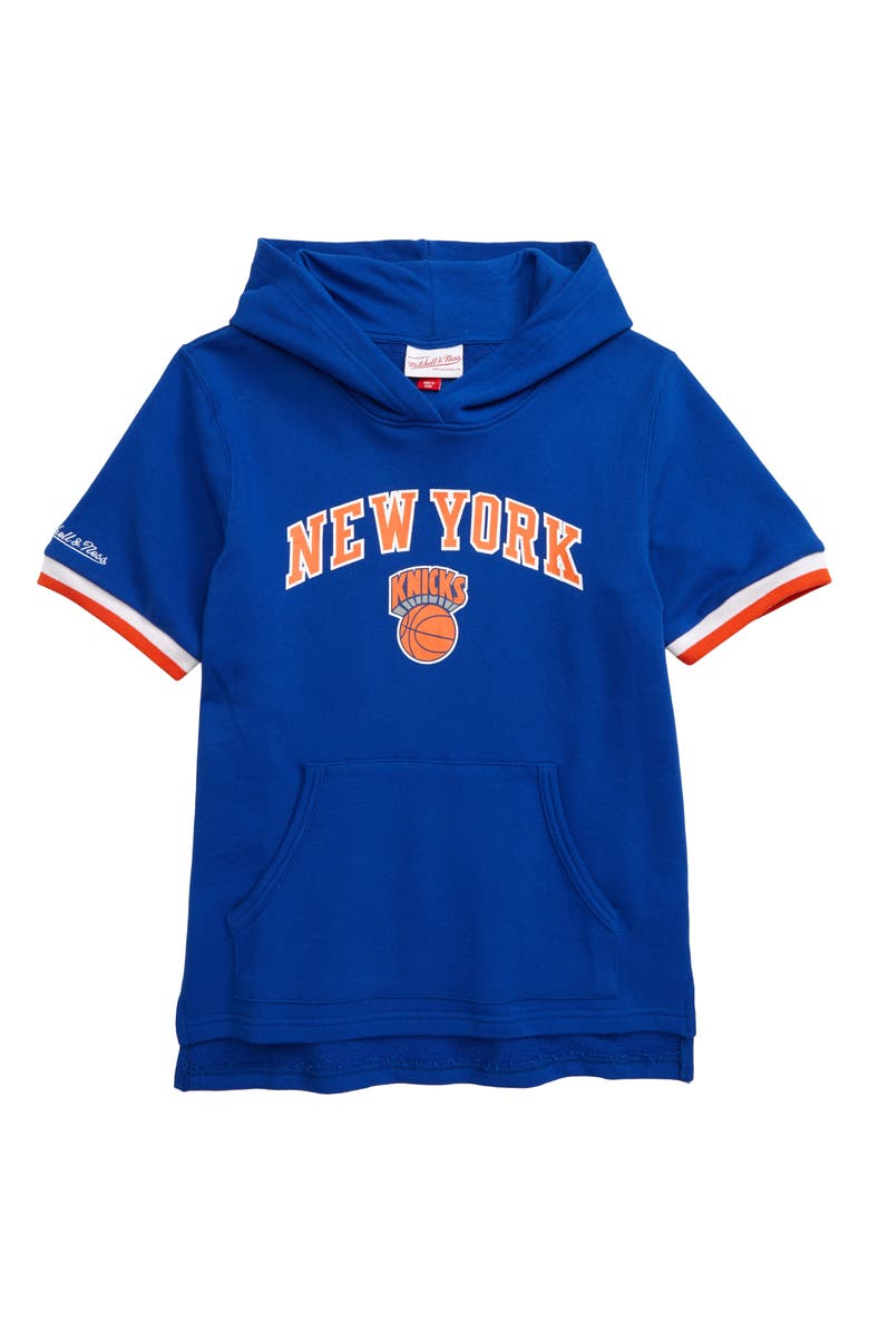 MITCHELL & NESS New York Knicks French Terry Hoodie, Main, color, 400