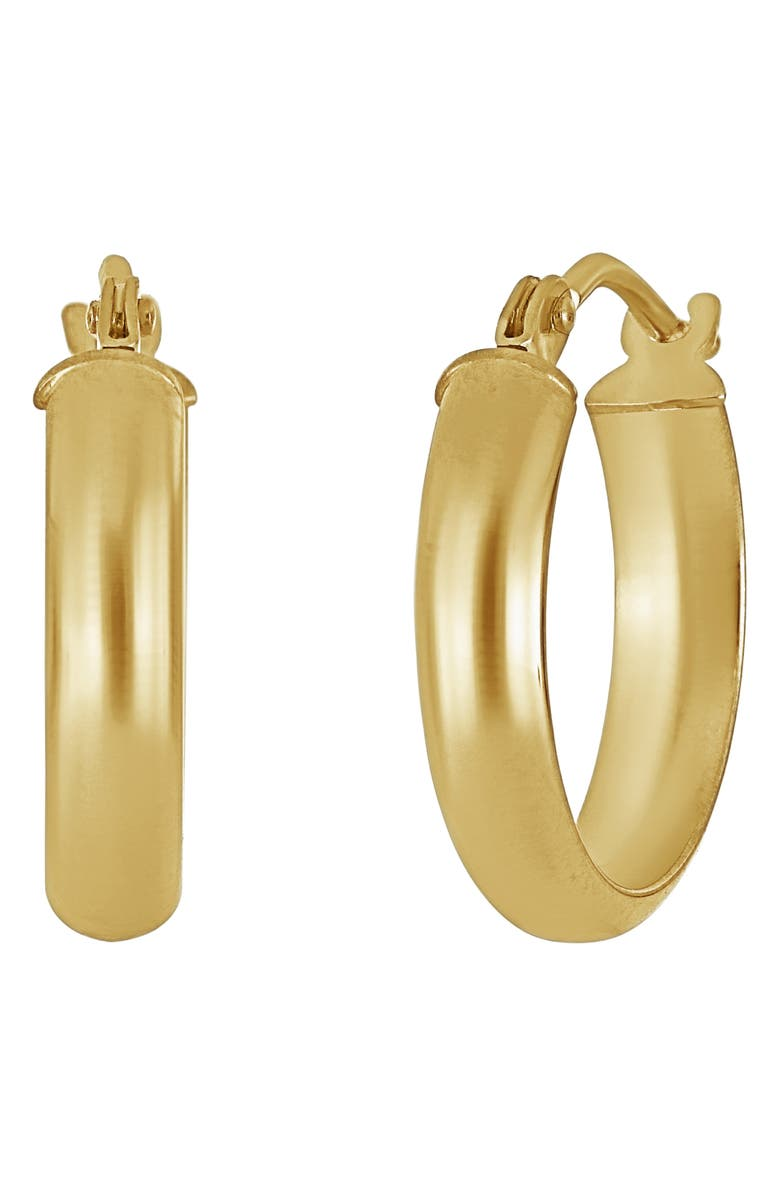 BONY LEVY 14K Gold Wide Huggie Hoops, Main, color, YELLOW GOLD