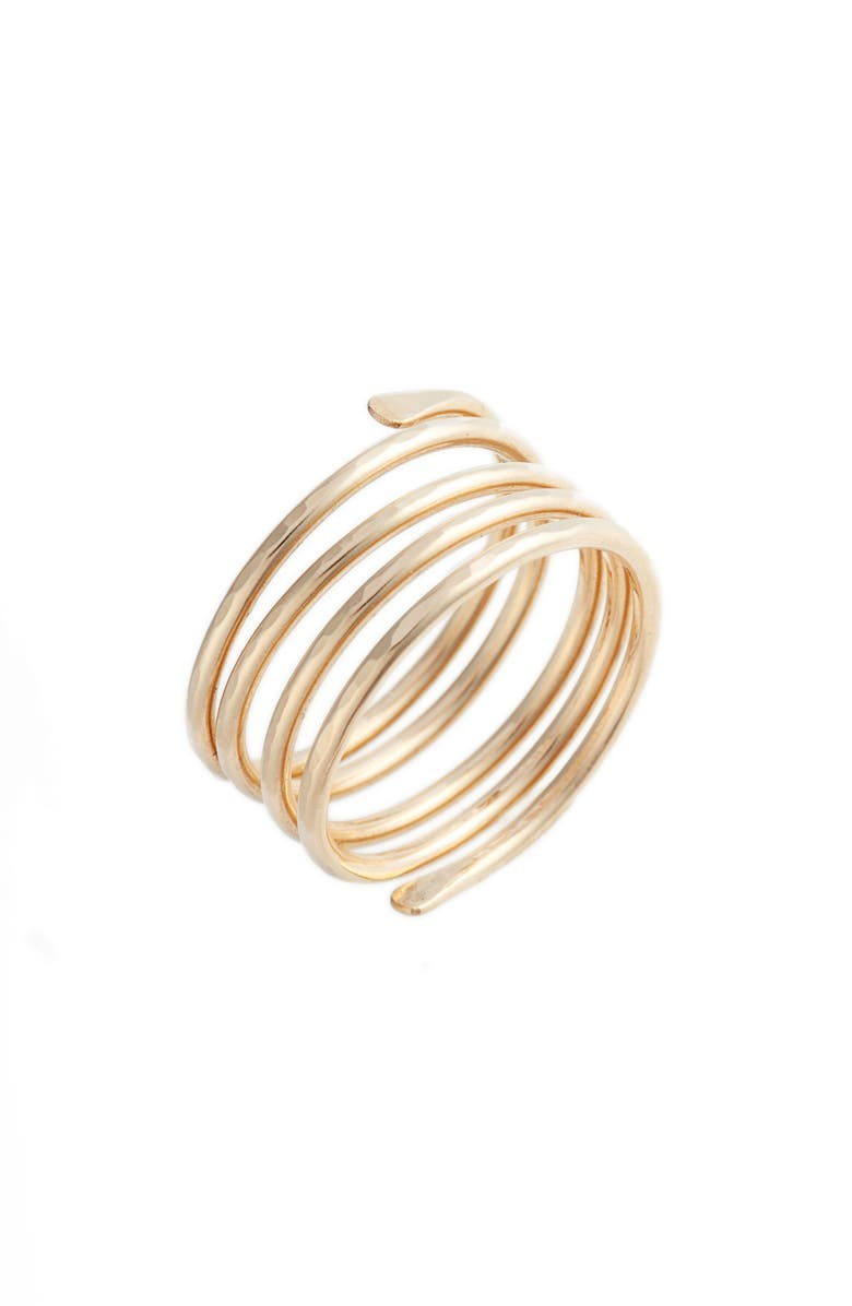 NASHELLE Coil Ring, Main, color, Gold