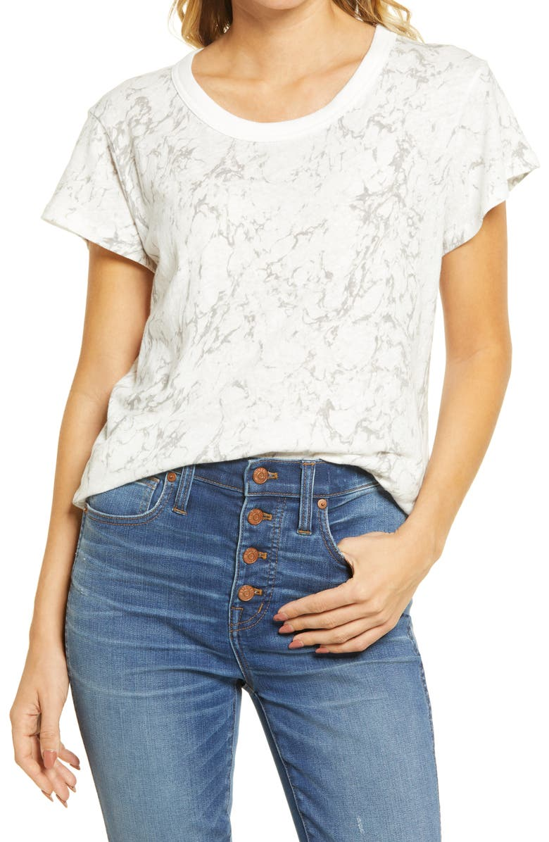MADEWELL The Perfect Vintage Marble Print T-Shirt, Main, color, MARBLED LIGHTHOUSE