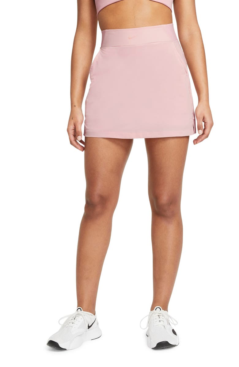 NIKE Bliss Lux Training Skort, Main, color, PINK GLAZE/ CLEAR