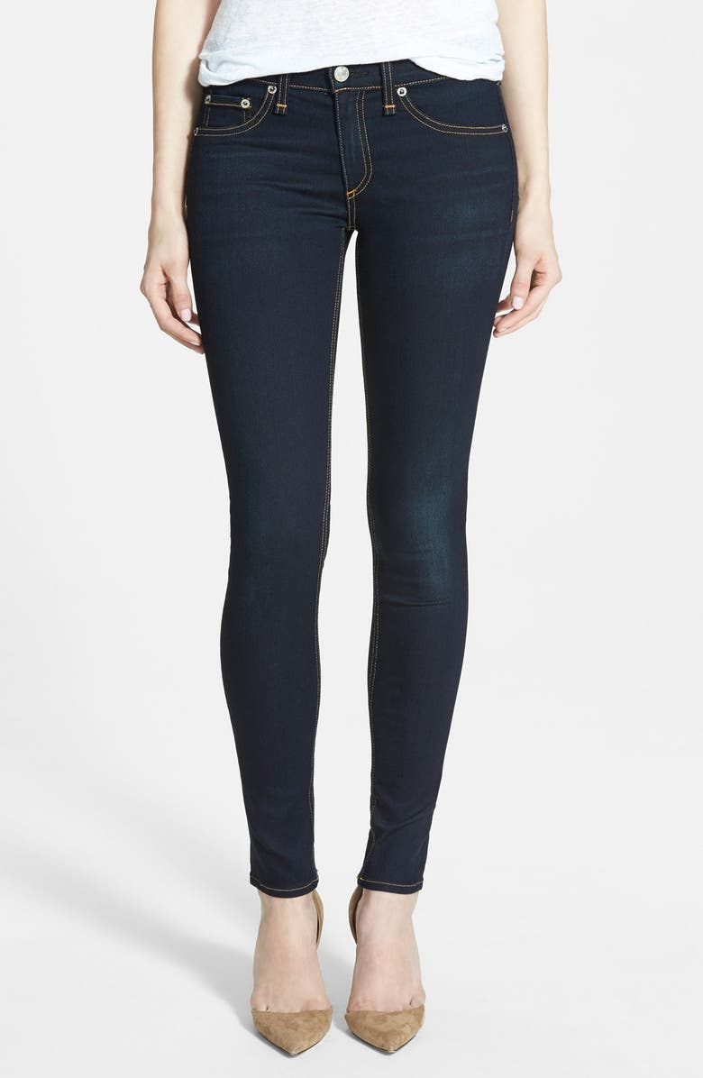 RAG & BONE/JEAN 'The Skinny' Mid Rise Jeans, Main, color, COVENTRY