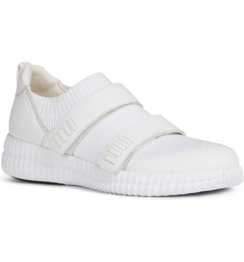 GEOX Novae Sneaker, Main, color, WHITE LEATHER