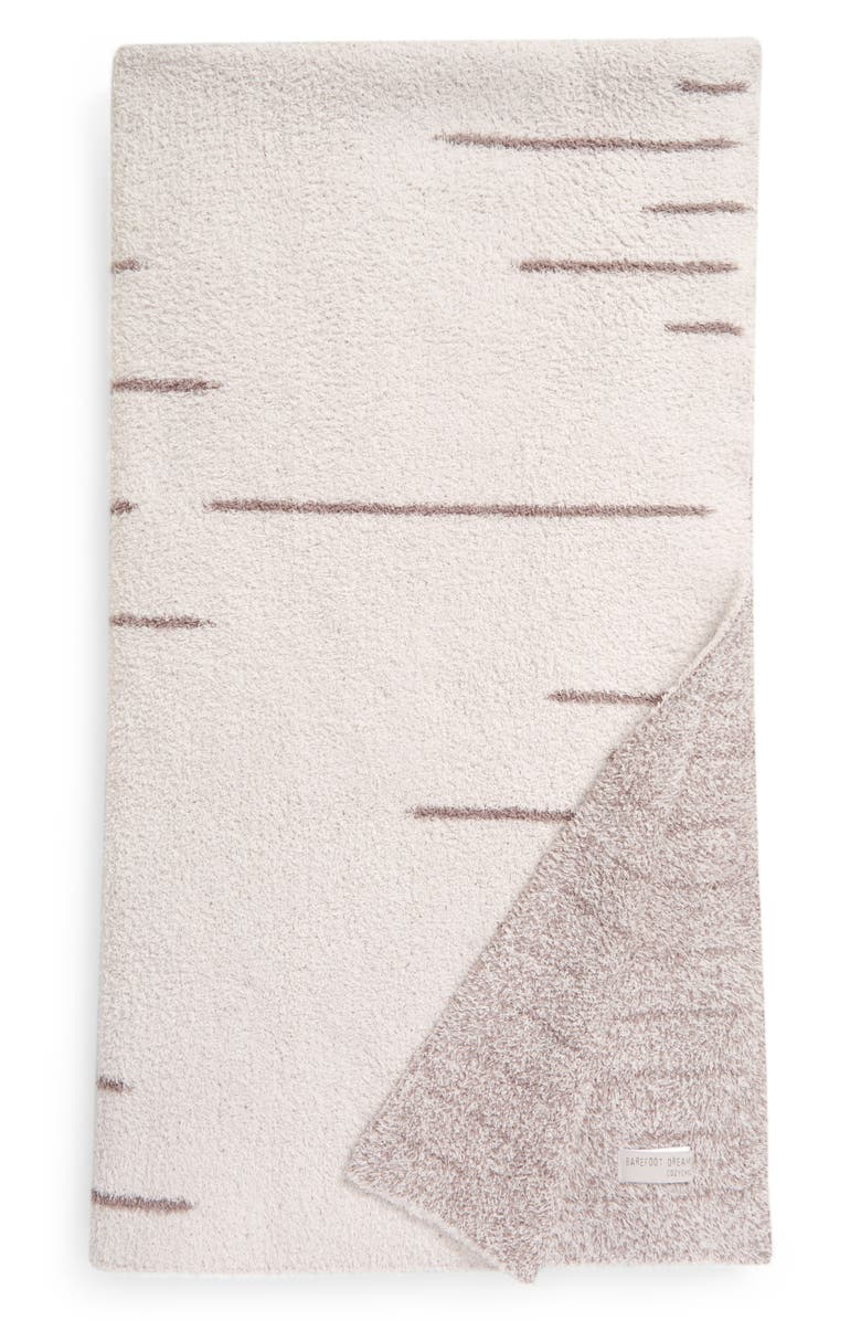 BAREFOOT DREAMS<SUP>®</SUP> CozyChic<sup>™</sup> Ligne Throw Blanket, Main, color, ALMOND/ BEACH ROCK