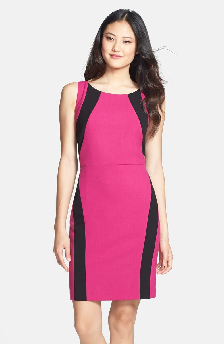 MARC NEW YORK by Andrew Marc Colorblock Sheath Dress, Main, color, 620