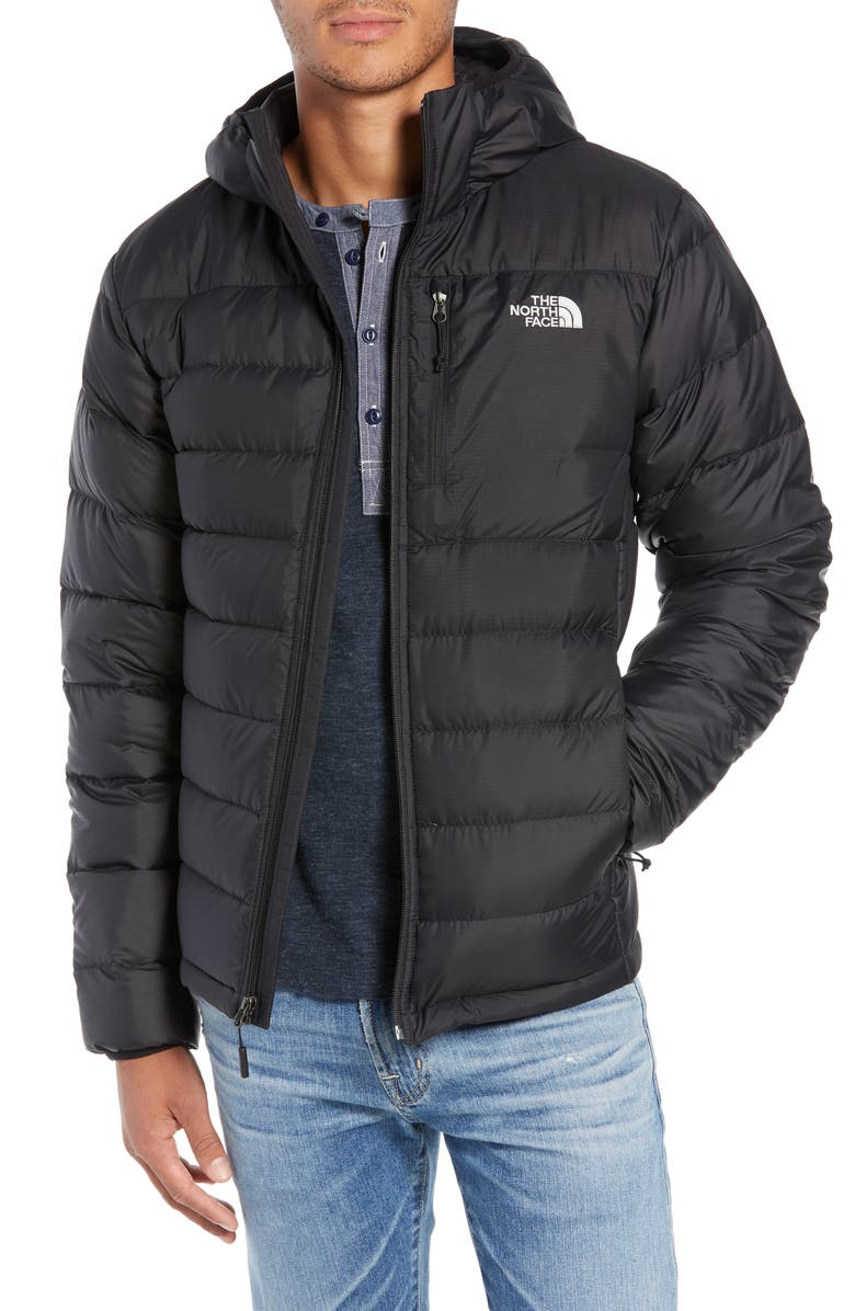THE NORTH FACE Aconcagua Down Hooded Jacket, Main, color, 001