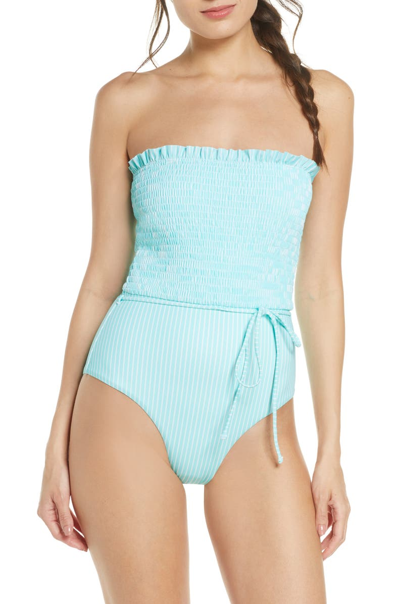 CHELSEA28 Smocked One-Piece Swimsuit, Main, color, 440
