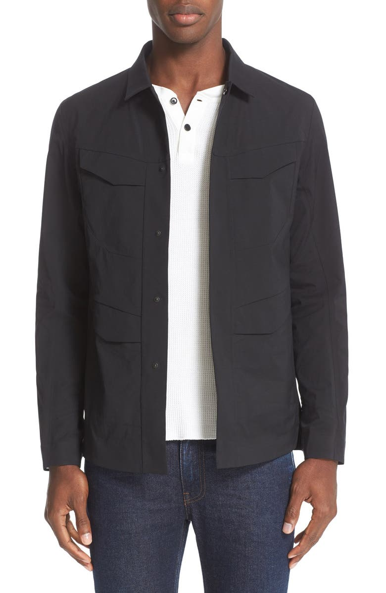 VEILANCE Water Resistant Field Shirt, Main, color, 001