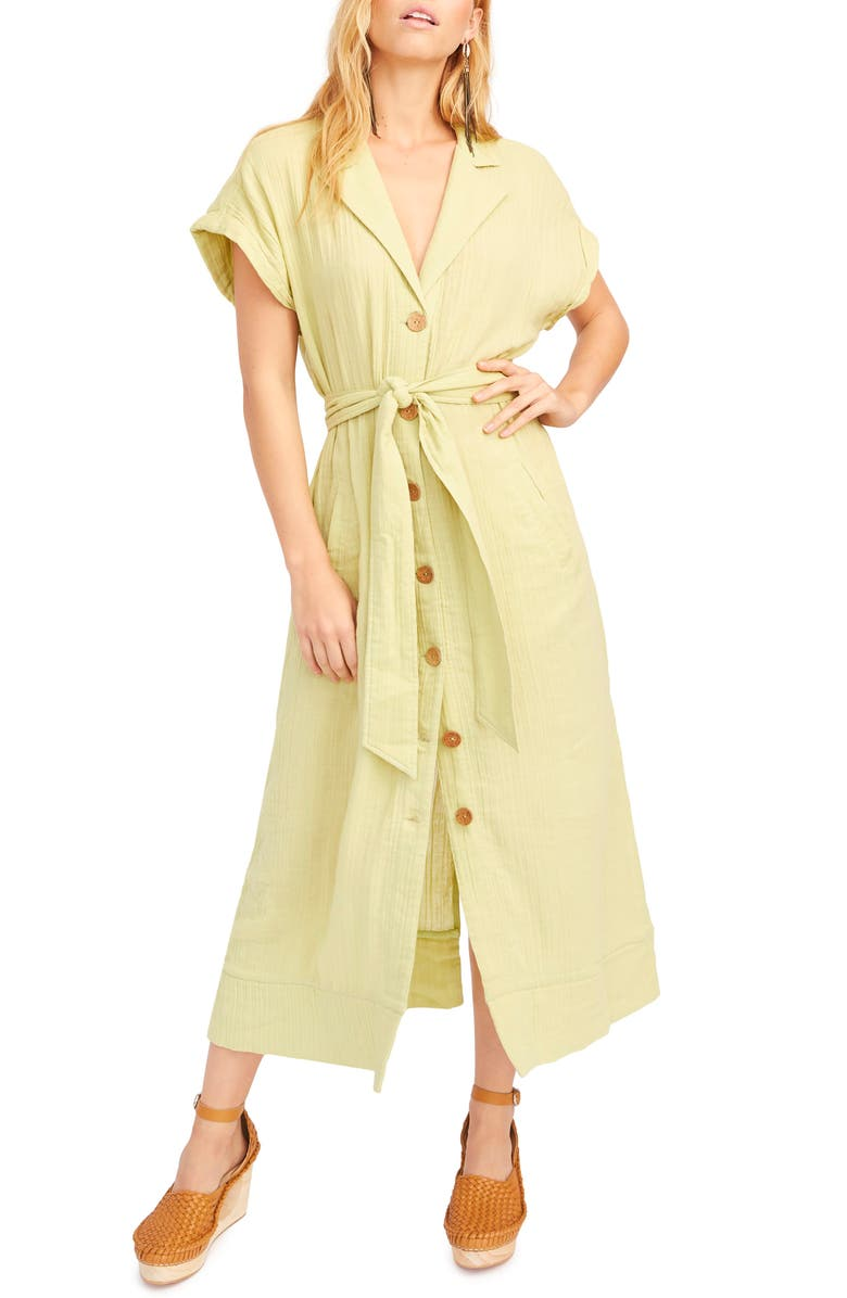 FREE PEOPLE Endless Summer by Free People Soaking Up Summer Maxi Dress, Main, color, Green