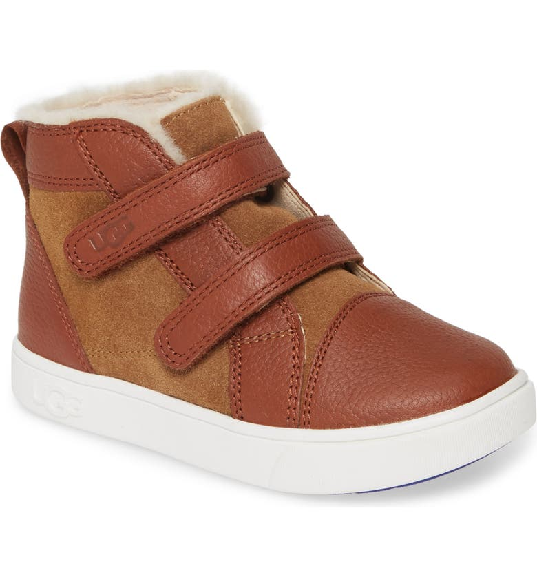UGG<SUP>®</SUP> Rennon High Top Sneaker, Main, color, CHESTNUT
