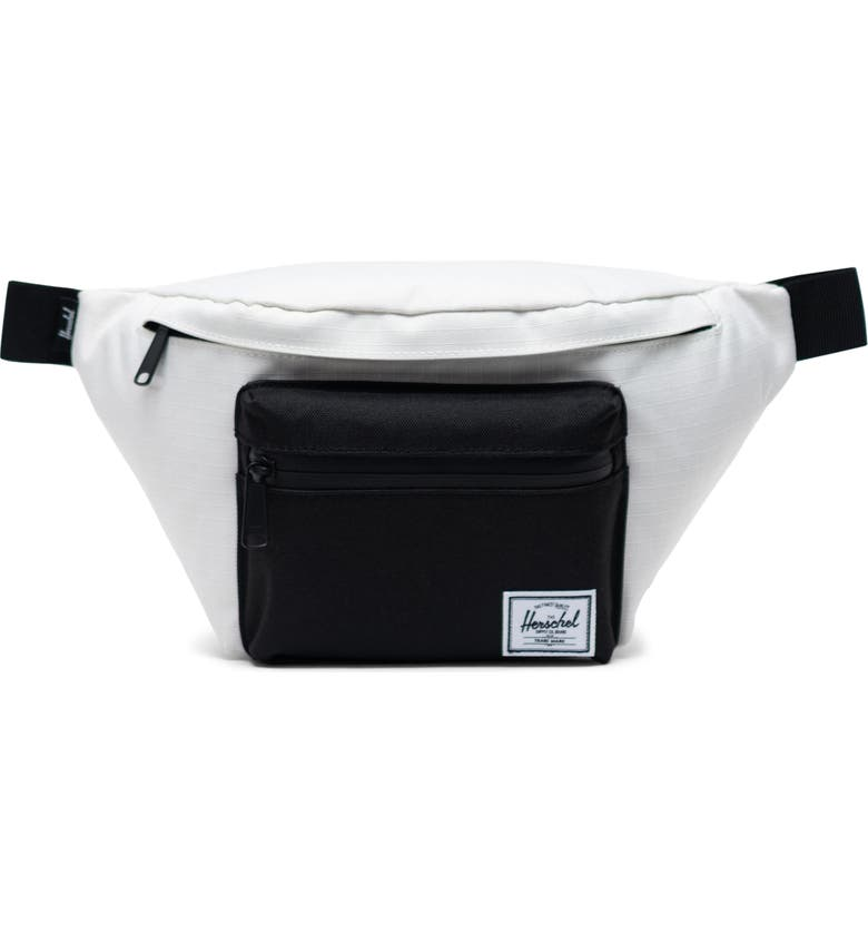 HERSCHEL SUPPLY CO. Seventeen Hip Pack, Main, color, BLANC DE BLANC RIPSTOP/BLACK