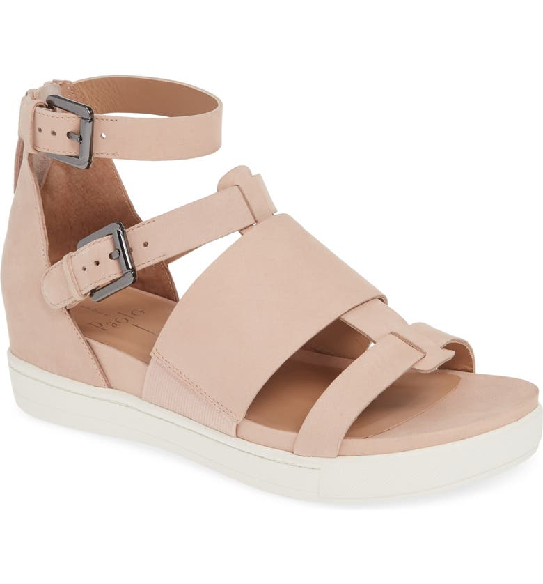 LINEA PAOLO Renata Strap Sandal, Main, color, BLUSH NAPPA LEATHER
