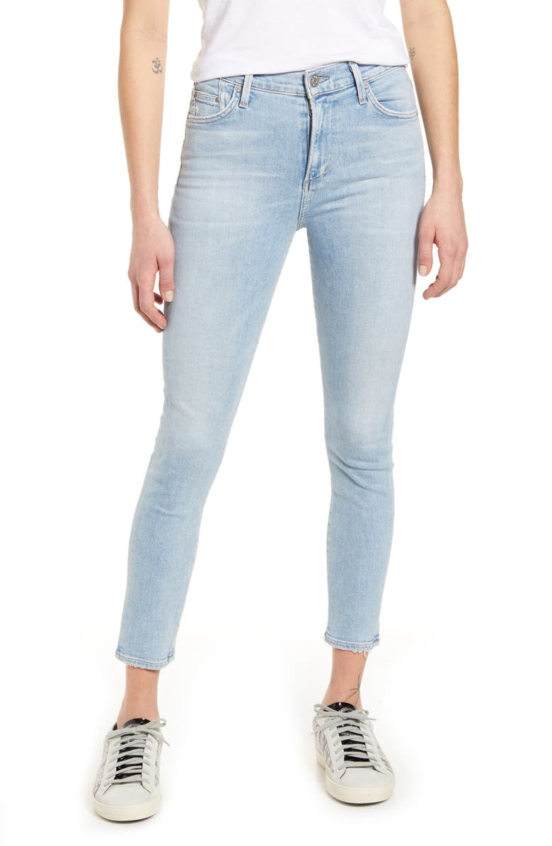 CITIZENS OF HUMANITY Rocket High Waist Crop Skinny Jeans, Main, color, SOFT FADE