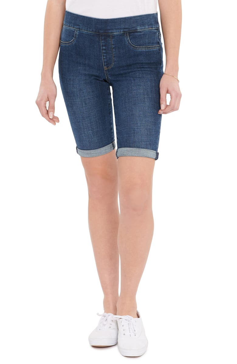 NYDJ Pull-On Denim Shorts, Main, color, CLEAN MARCEL