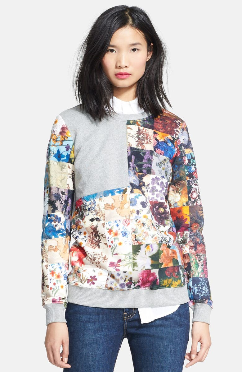 MARKUS LUPFER Floral Sweatshirt, Main, color, 020
