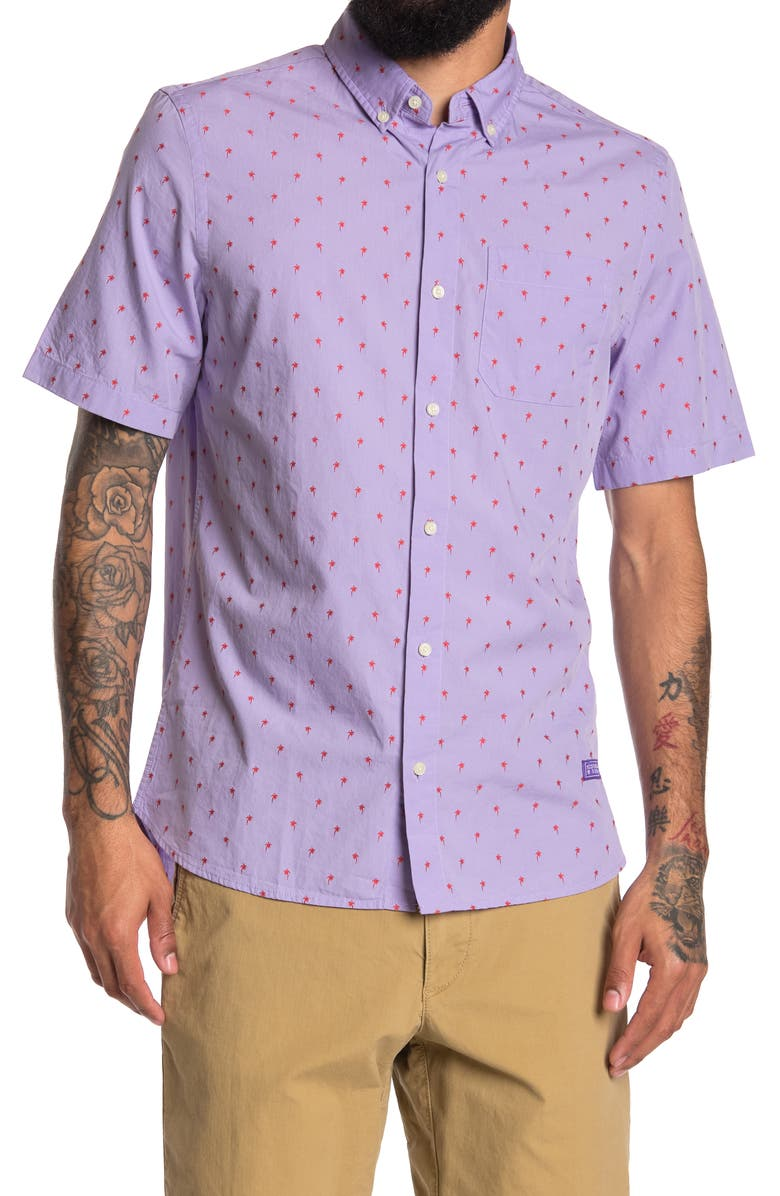 SCOTCH AND SODA Fil Dotted Short Sleeve Regular Fit Shirt, Main, color, 0222-COMBO F