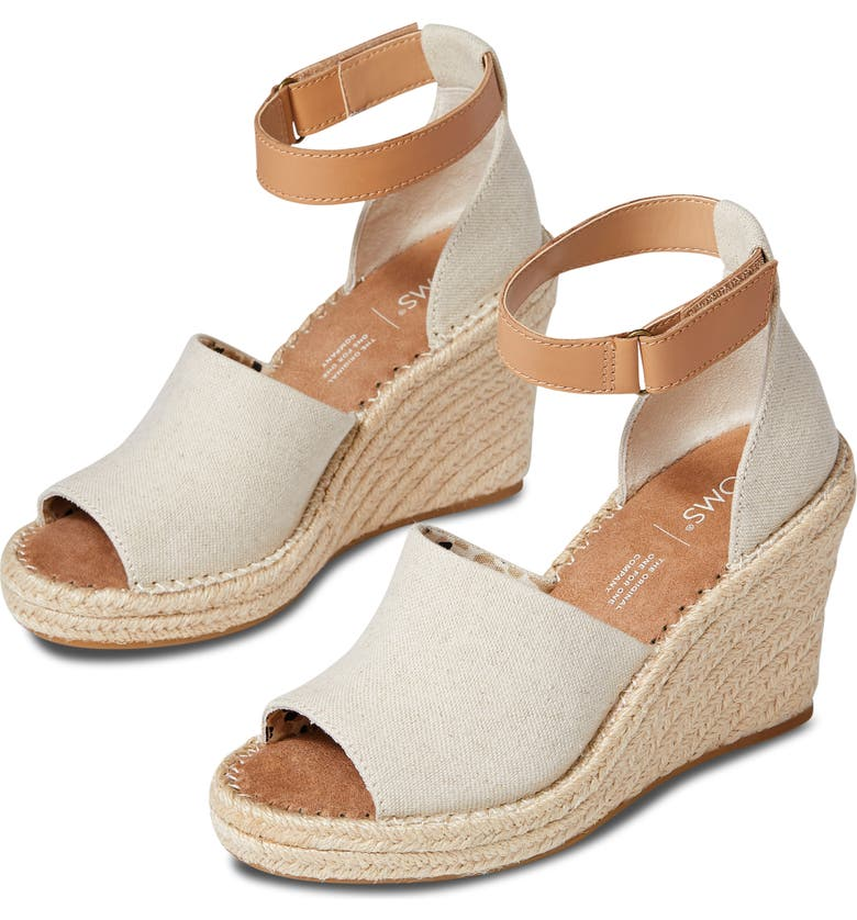 TOMS Marisol Espadrille Wedge Sandal, Main, color, NATURAL