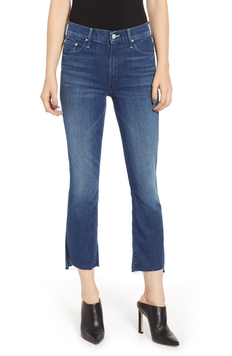 MOTHER The Insider High Waist Step Hem Crop Bootcut Jeans, Main, color, THE ROYAL TREATMENT