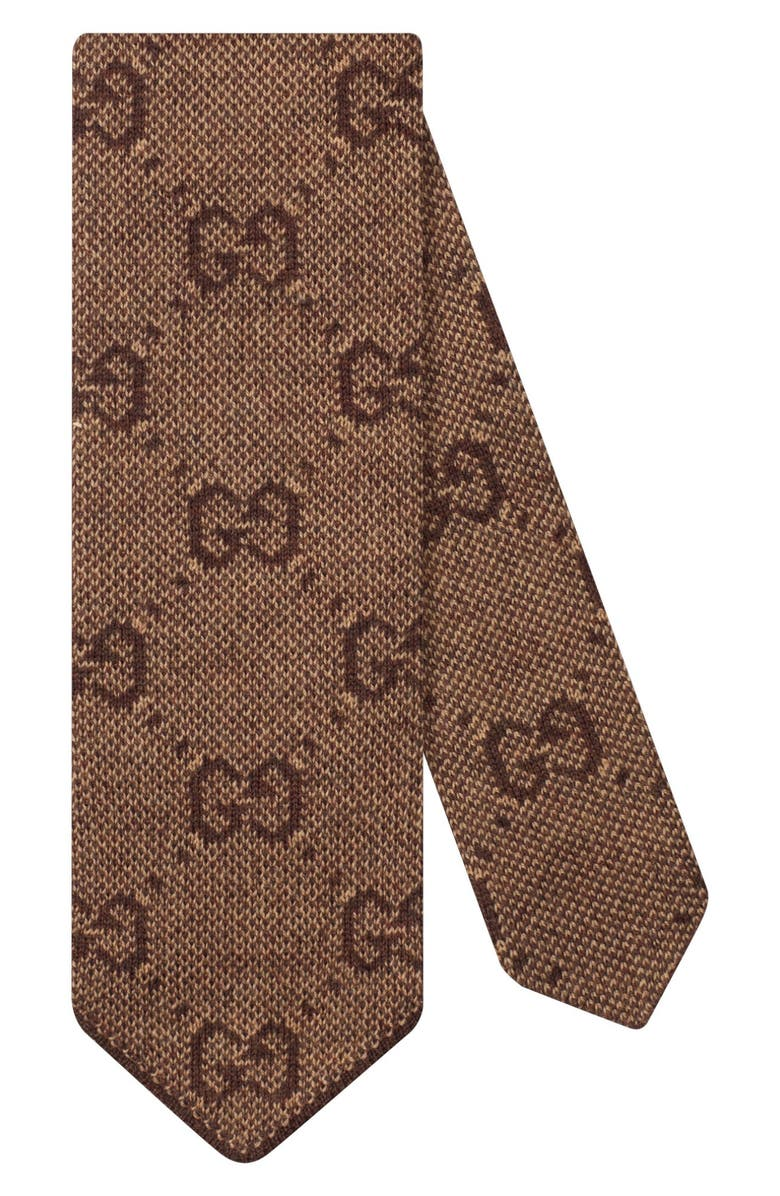 GUCCI GG Logo Wool Tie, Main, color, 250