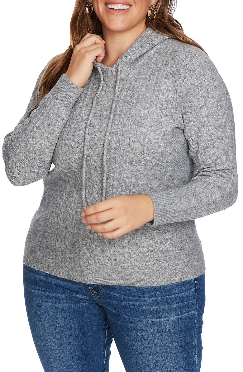 COURT & ROWE Cable Front Hoodie, Main, color, 082