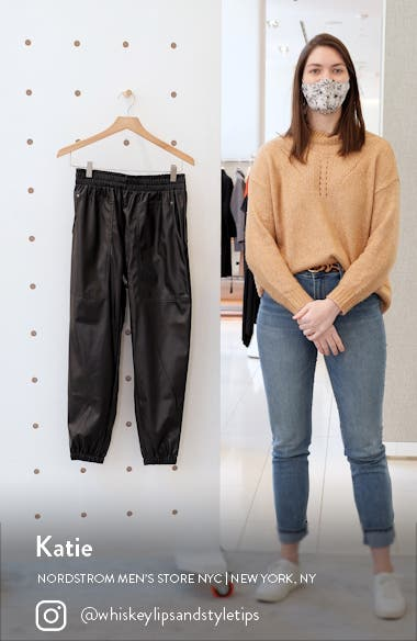 Downtown Faux Leather Joggers, sales video thumbnail