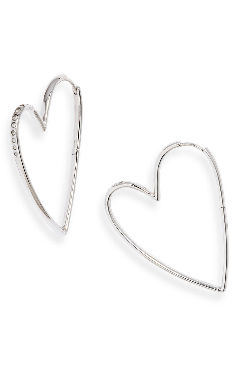 KENDRA SCOTT Ansley Heart Hoop Earrings, Main, color, 040