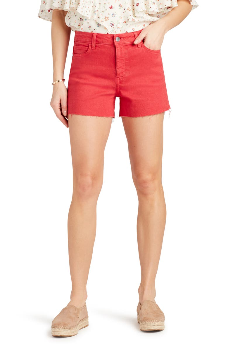 SAM EDELMAN The Stiletto Raw Hem Cutoff Denim Shorts, Main, color, 610