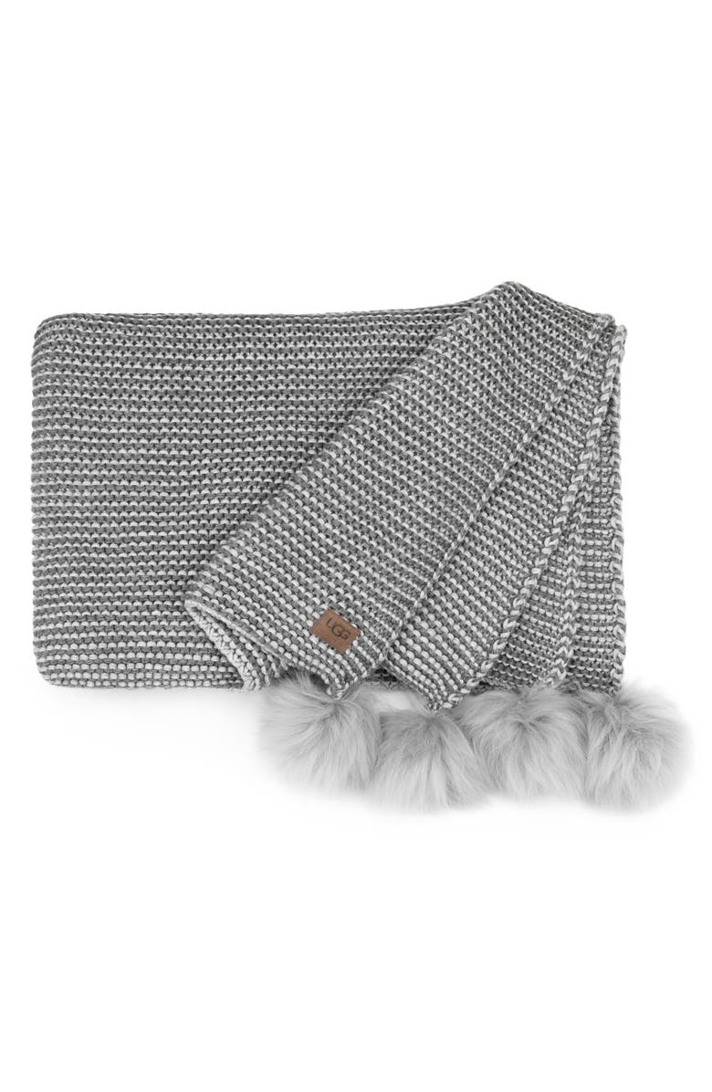UGG<SUP>®</SUP> Snow Creek Genuine Shearling Throw, Main, color, 020