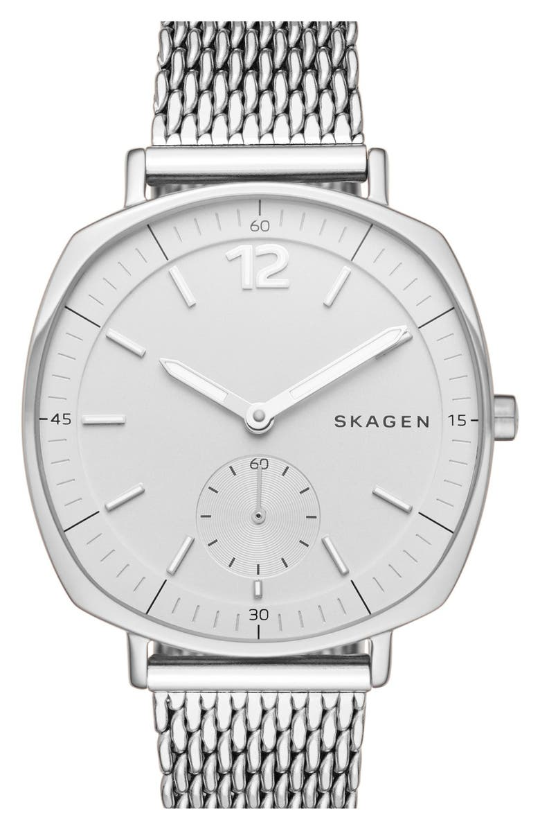 SKAGEN 'Rungsted' Mesh Strap Watch, 34mm, Main, color, 040