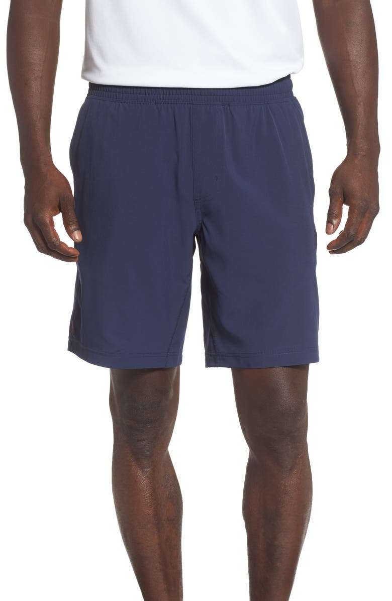 RHONE Mako Water Resistant Performance Athletic Shorts, Main, color, NAVY