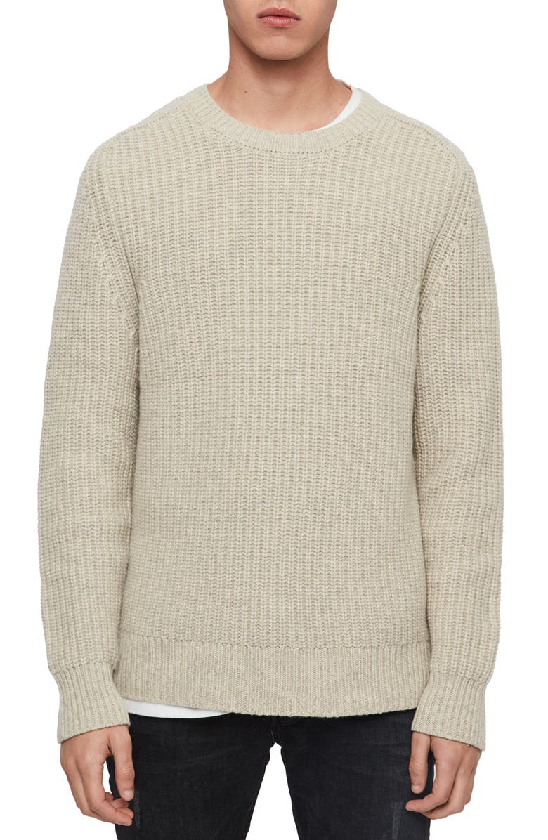 ALLSAINTS Galley Crewneck Wool Sweater, Main, color, 272