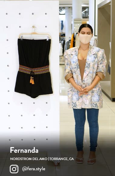 Sunset Smocked Cover-Up Romper, sales video thumbnail