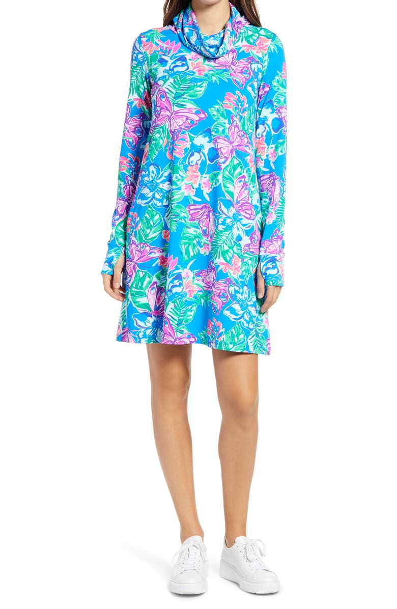 LILLY PULITZER<SUP>®</SUP> Lilshield UPF 50+ Dress, Main, color, PUNDY BLUE ISLE BE BACK