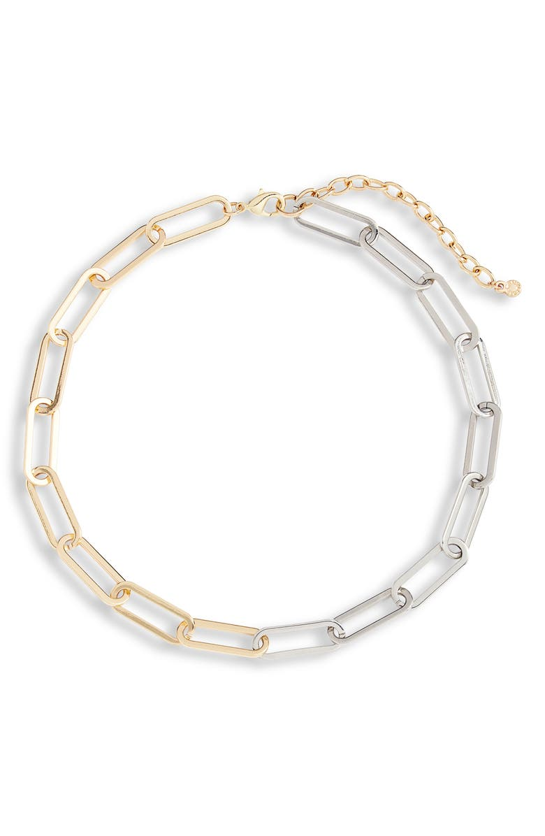 BAUBLEBAR Hera Two-Tone Necklace, Main, color, GOLD/ SILVER