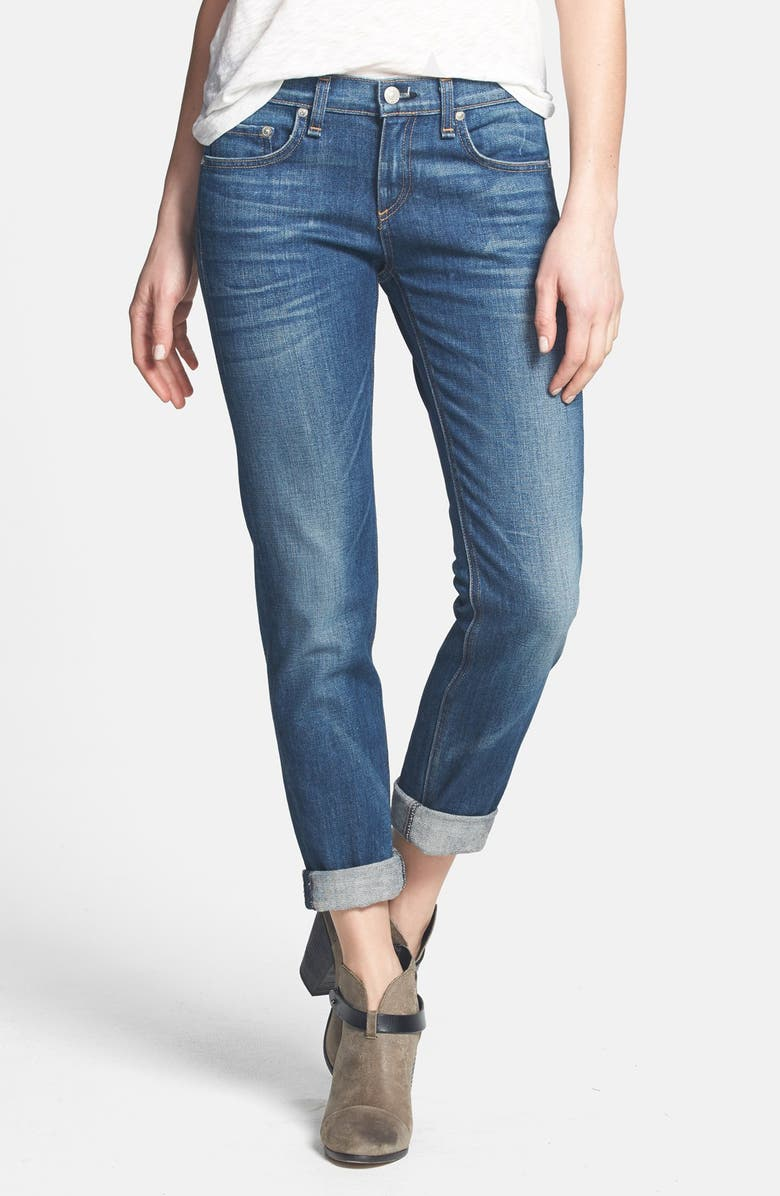 RAG & BONE/JEAN 'The Dre' Slim Fit Boyfriend Jeans, Main, color, 400