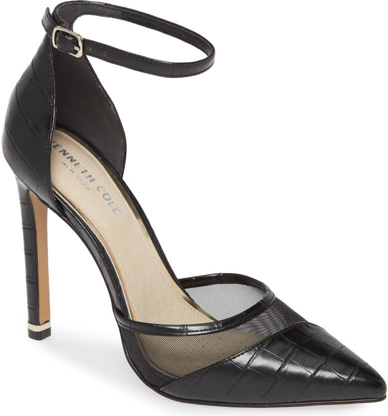 KENNETH COLE NEW YORK Riley Ankle Strap Pump, Main, color, 001