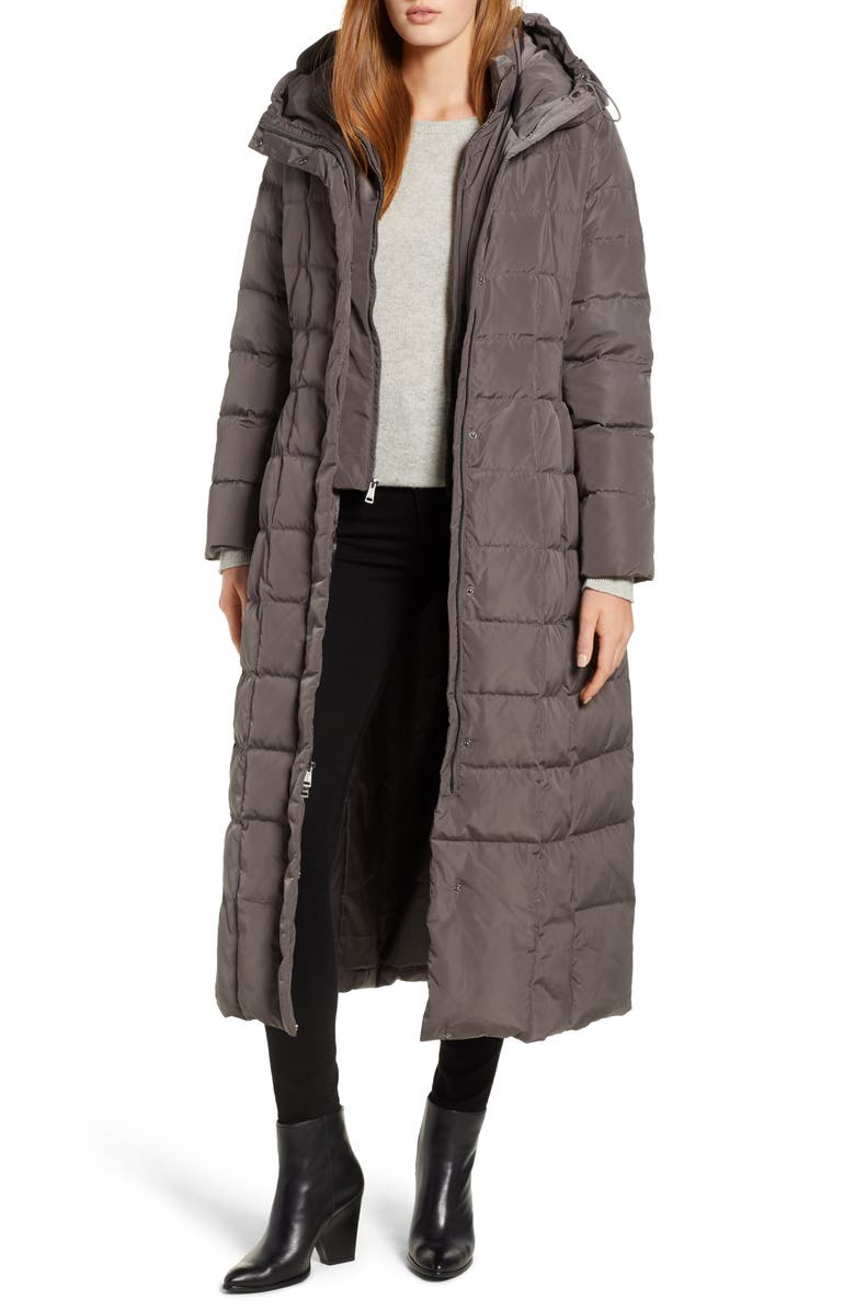 COLE HAAN SIGNATURE Cole Haan Quilted Coat with Inner Bib, Main, color, 024